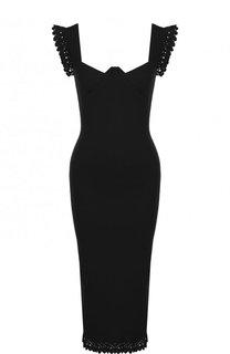 Однотонное приталенное платье-миди на молнии Roland Mouret
