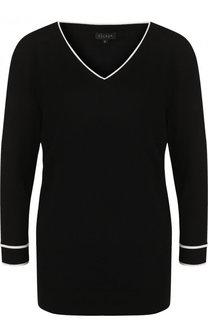 Однотонный пуловер из вискозы с V-образным вырезом Escada