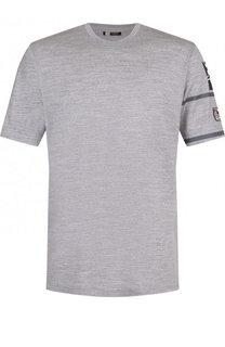 Шерстяная футболка с круглым вырезом Z Zegna