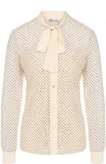 Шелковая блуза с воротником аскот REDVALENTINO