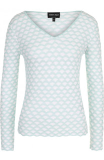 Приталенный пуловер с V-образным вырезом Giorgio Armani