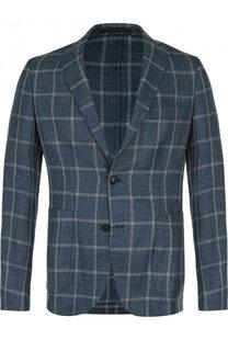 Однобортный пиджак из смеси шерсти и льна с шелком Pal Zileri