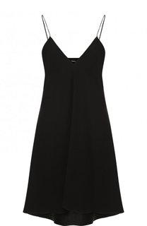 Однотонное мини-платье свободного кроя с V-образным вырезом Theory