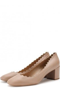 Кожаные балетки Lauren с фигурным вырезом Chloé
