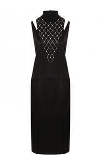Однотонное платье-миди с разрезами на плечах By Malene Birger