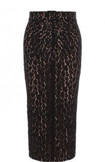 Кружевная юбка-карандаш с разрезом No. 21