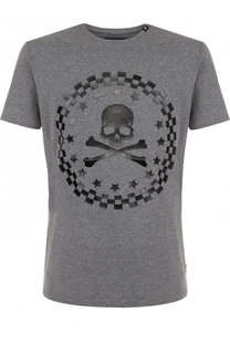 Хлопковая футболка с отделкой Philipp Plein