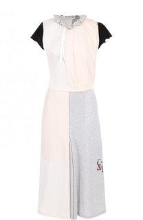 Приталенное хлопковое платье-миди Balenciaga