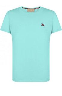 Хлопковая футболка с круглым вырезом Burberry