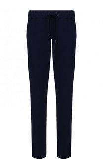 Хлопковые брюки прямого кроя с поясом на кулиске Giorgio Armani