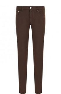 Хлопковые брюки прямого кроя Ermenegildo Zegna