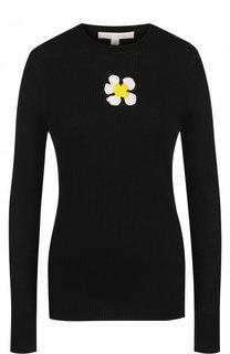 Приталенный шерстяной пуловер с круглым вырезом Marc Jacobs