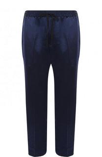 Укороченные брюки прямого кроя с контрастными лампасами Gucci