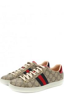 Текстильные кеды Ace GG Supreme на шнуровке Gucci