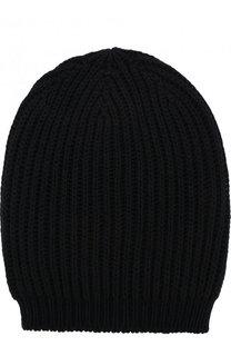 Шелковая шапка фактурной вязки Rick Owens