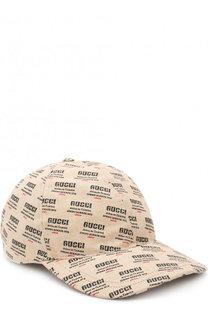 Хлопковая бейсболка с логотипом бренда Gucci
