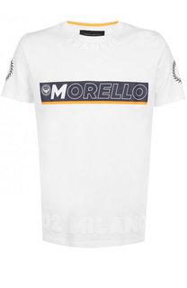 Хлопковая футболка с принтом Frankie Morello