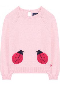 Хлопковый пуловер с аппликациями Ralph Lauren