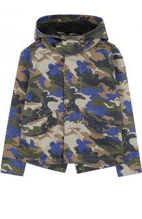 Хлопковая куртка с капюшоном и принтом Zadig&Voltaire Zadig&Voltaire