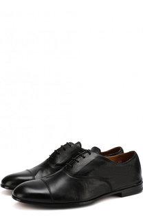 Кожаные оксфорды на шнуровке Doucals