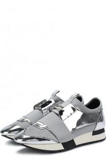 Кросcовки Race из металлизированной кожи Balenciaga
