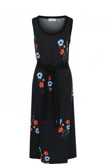 Приталенное мини-платье с цветочным принтом Sonia Rykiel
