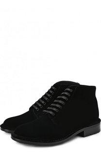 Текстильные ботинки на шнуровке Saint Laurent