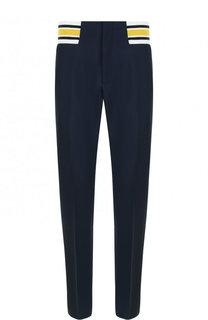 Шерстяные брюки прямого кроя с поясом на резинке Loewe