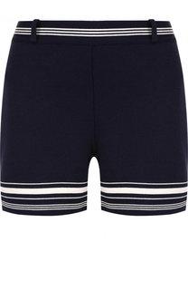 Шелковые мини-шорты с контрастной отделкой Ralph Lauren