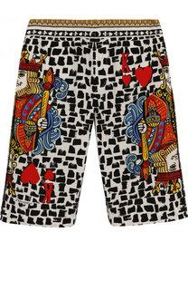 Хлопковые шорты с принтом Dolce & Gabbana