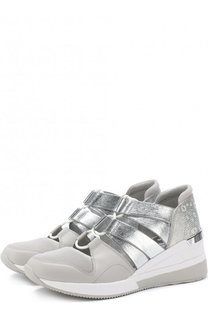 Комбинированные кроссовки Becket на шнуровке MICHAEL Michael Kors