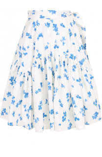 Хлопковая юбка-миди с цветочным принтом Ralph Lauren