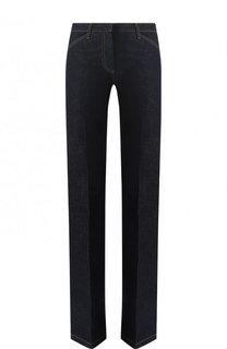 Однотонные расклешенные джинсы с контрастной прострочкой Theory