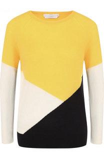 Шерстяной пуловер с круглым вырезом BOSS