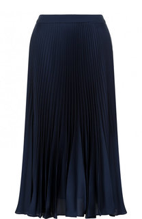 Однотонная плиссированная юбка-миди Tara Jarmon