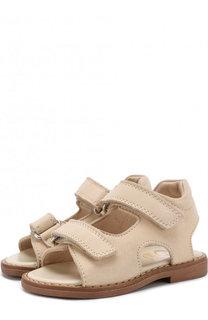 Замшевые сандалии на застежках велькро Gallucci