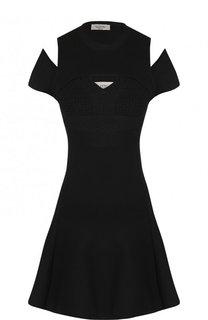Приталенное мини-платье из вискозы Valentino