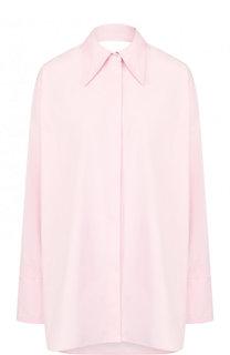 Хлопковая блуза свободного кроя с разрезом на спинке Helmut Lang