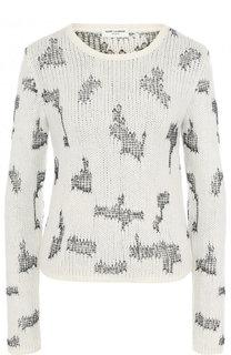 Кашемировый пуловер с круглым вырезом Saint Laurent