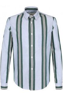 Хлопковая рубашка в контрастную полоску Golden Goose Deluxe Brand