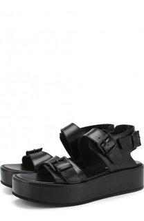 Кожаные сандалии на толстой подошве Ann Demeulemeester