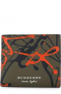 Кожаное портмоне с отделениями для кредитных карт Burberry