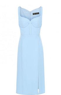Однотонное приталенное платье-миди Versace