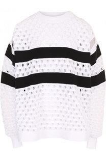 Пуловер фактурной вязки с круглым вырезом Sonia Rykiel