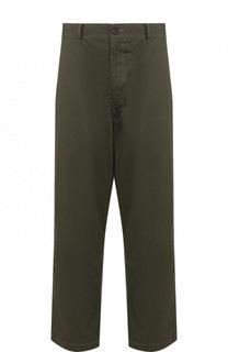 Хлопковые брюки прямого кроя Comme des Garcons