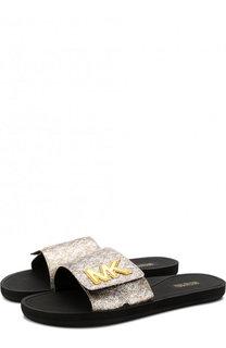 Резиновые шлепанцы с логотипом бренда MICHAEL Michael Kors