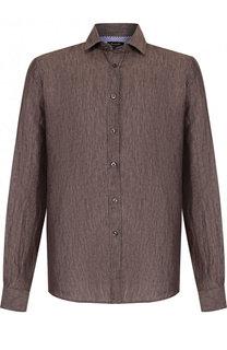 Льняная рубашка с воротником кент Sand