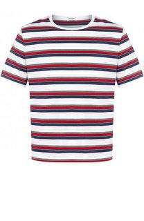 Хлопковая футболка с круглым вырезом Saint Laurent