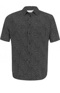 Шелковая рубашка с короткими рукавами Saint Laurent