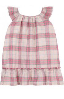 Хлопковое платье с оборкой Burberry